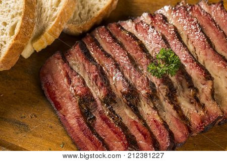 Sliced Brisket With Bread