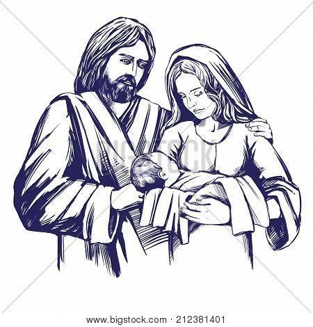 A Christmas Story Logo Vector.Christmas Story Mary Vector Photo Free Trial Bigstock
