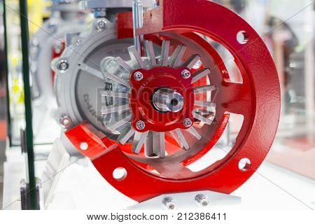 detail of an industrial centrifugal pump ;