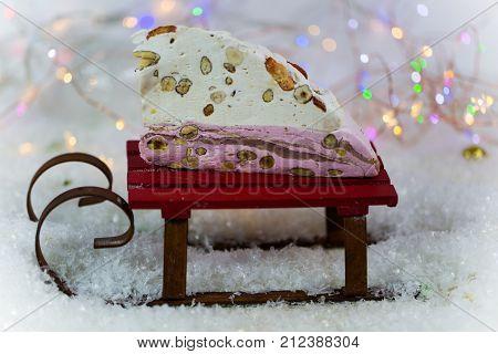 Torrone on Christmas Torrone Torrone on sled