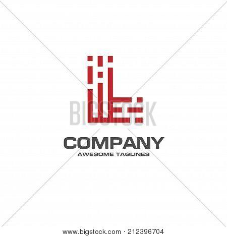 creative Letter L line Logo design vector template Linear, best letter L Type Character Symbol Monogram Logotype