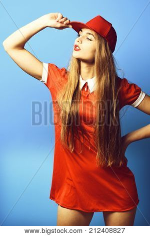 Serious Colorful Girl With Cap