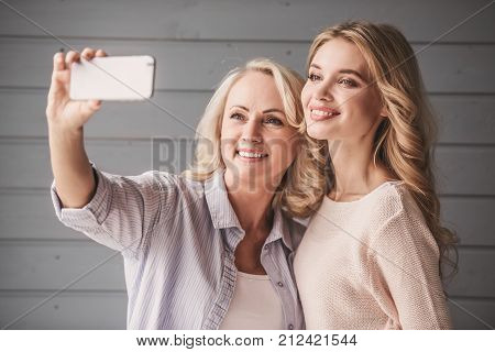 Senior Mum And Adult Daughter