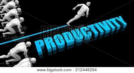 Superior Productivity Concept with Competitive Advantage 3d Render