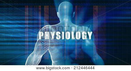 Physiology as a Futuristic Concept Abstract Background 3D Render