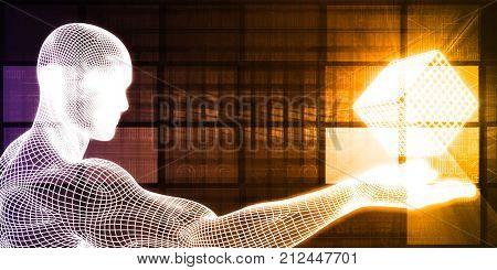 Business Analytics Software Cube as a Tech Concept 3D Render