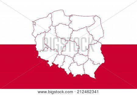 Map Flag Poland Vector & Photo (Free Trial) | Bigstock