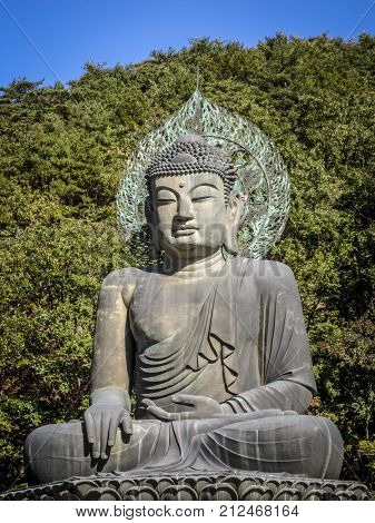 Statue of Buddha in Seoraksan National Park, South Korea
