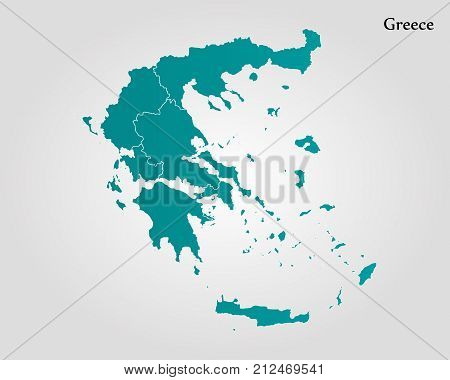 Vector y foto map greece bigstock map of greece vector illustration world map gumiabroncs Gallery