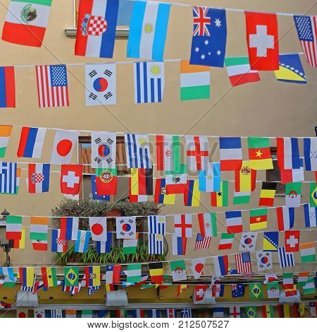 International World Flags Festive Party Street Decoration