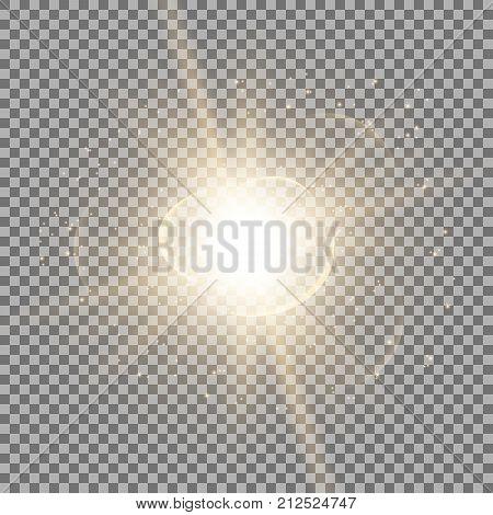 Star Burst With Sparks, Golden Color