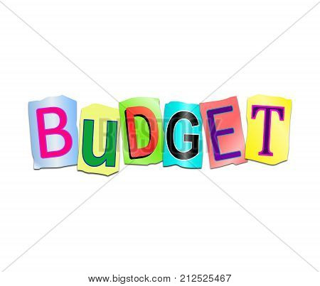 Budget Word Concept.
