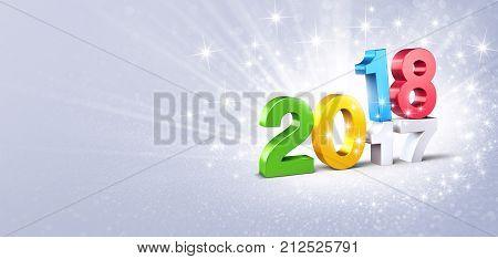 2018 Glittering Greeting Card