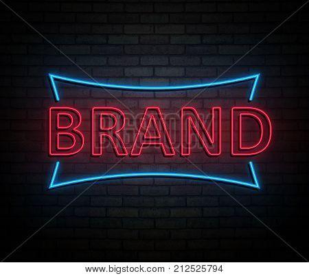 Neon Brand Concept.