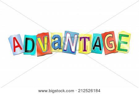 Advantage Word Concept.