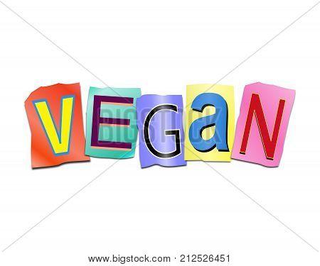 Vegan Word Concept.