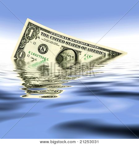 One Dollar In Water