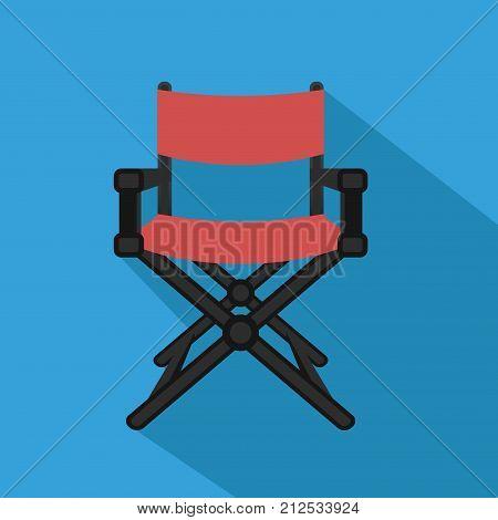 Film director chair. Flat design. Vector illustration.