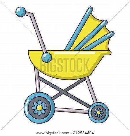 Baby carriage retro icon. Cartoon illustration of baby carriage retro vector icon for web