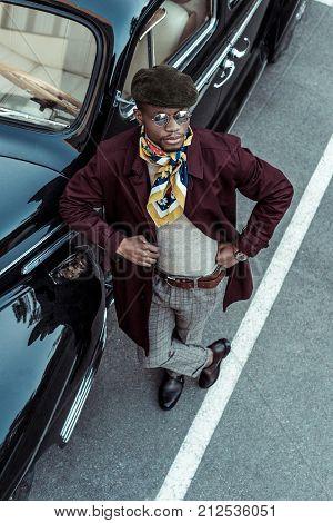 Stylish Man Posing With Car