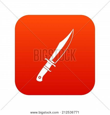 Dagger icon digital red for any design isolated on white vector illustration