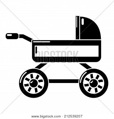 Baby carriage icon. Simple illustration of baby carriage vector icon for web