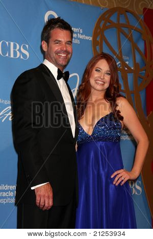 LAS VEGAS - JUNE 19:  Tuc Watkins, Melissa Archer in the Press Room of the  38th Daytime Emmy Awards at Hilton Hotel & Casino on June 19, 2010 in Las Vegas, NV.