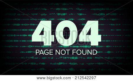 404 Error Vector. Error 404 Page Not Found Creative Template. Problem Disconnect Concept Illustration.