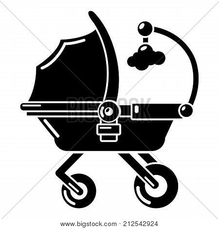 Baby carriage cute icon. Simple illustration of baby carriage cute vector icon for web