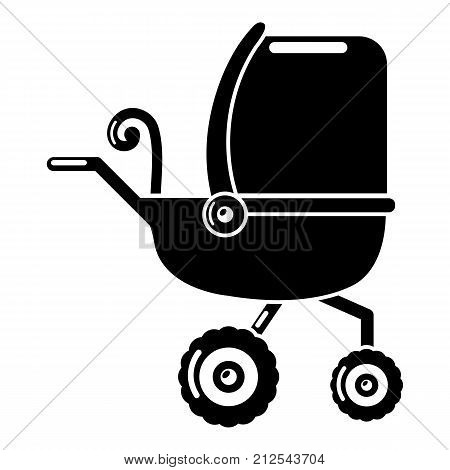 Baby carriage tricycles icon. Simple illustration of baby carriage tricycles vector icon for web