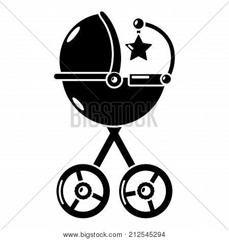 Baby carriage star icon. Simple illustration of baby carriage star vector icon for web
