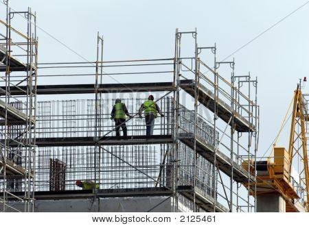 Werknemers in de bouw
