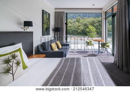 Luxury Bedroom Interior At Milford Sound Lodge
