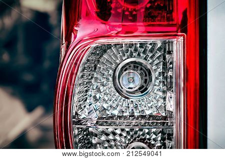 Left Taillight on a Vehicle with High Intensity LED Bulb Replacement