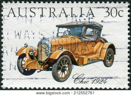 Australia - Circa 1984: Postage Stamp Printed In Australia, Shows Australian-made Vintage Cars: Chic