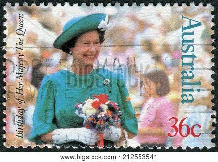 Australia - Circa 1987: Postage Stamp Printed In Australia, Dedicated To 61-th Anniversary Of The Bi