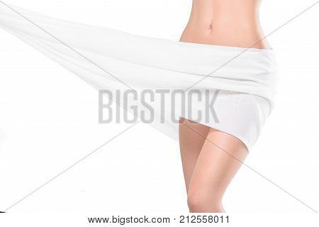 Slim Woman On White