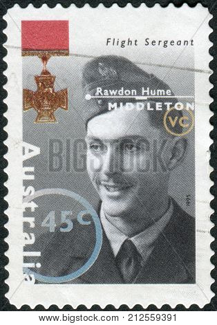 Australia - Circa 1995: Postage Stamp Printed In Australia Shows Famous Australians From World War I
