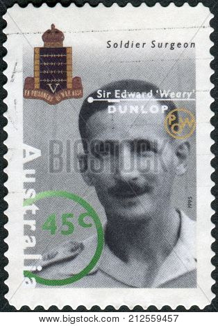 Australia - Circa 1995: Postage Stamp Printed In Australia Shows Famous Australians From World War I