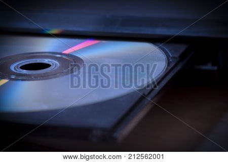 CD or DVD player being ejected from an electronic Media station