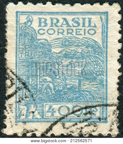 Brazil - Circa 1941: Postage Stamp Printed In Brazil, Dedicated To Agriculture, Circa 1941