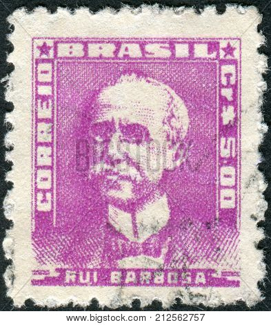 Brazil - Circa 1960: Postage Stamp Printed In Brazil, Shows A Writer, Politician, Diplomat And Juris