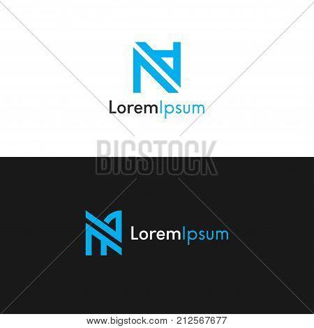 Na Logo Company Icon Sign Vector Design.
