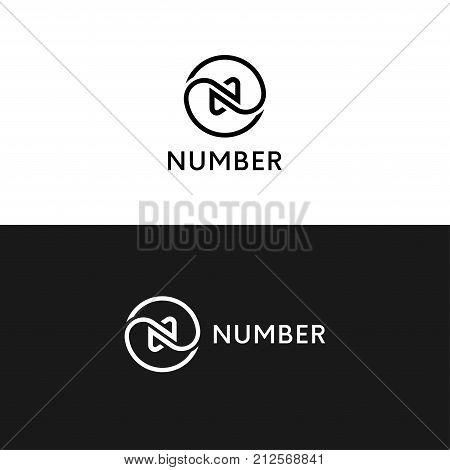 Clean Circle N Logo Icon Wave Sign Vector Design.