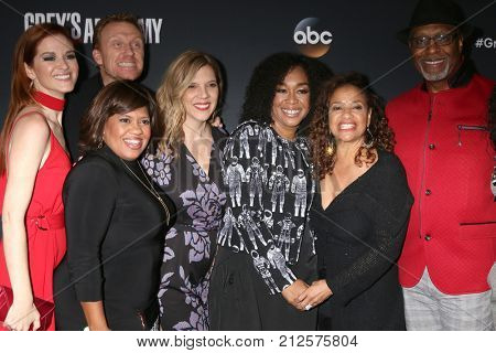 LOS ANGELES - NOV 4:  Sarah Drew, Chandra Wilson, Kevin McKidd, Shonda Rhimes, Debbie Allen, James Pickens Jr at the