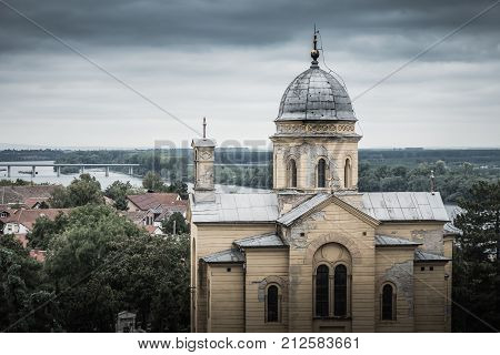 Orthodox Church Of St. Dimitrije On Gardos Hill In Zemun. Belgrade Serbia.