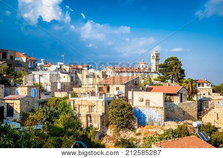 Lefkara. Picturesque Mountain Village. Larnaca District Cyprus.