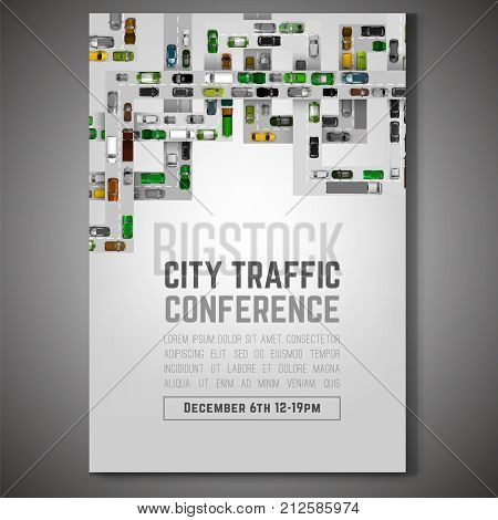 City Traffic Poster Vector & Photo (Free Trial) | Bigstock