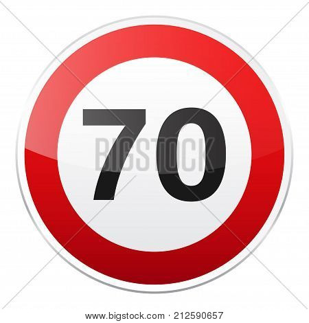 Road red sign on white background. Road traffic control.Lane usage. Stop and yield. Regulatory sign. Street. Speed limit.