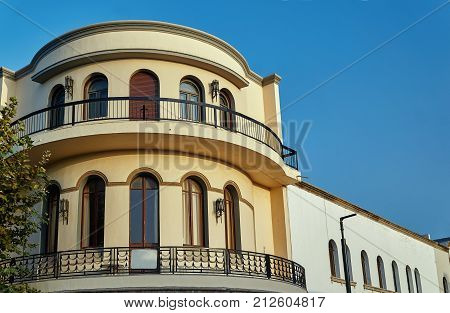 Modernist townhouse with balcony in Kos Town Greece